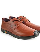 Недорогие -Муж. Комфортная обувь Наппа Leather Весна Мокасины и Свитер Коричневый