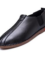 Недорогие -Муж. Комфортная обувь Полиуретан Весна лето На каждый день Мокасины и Свитер Доказательство износа Черный