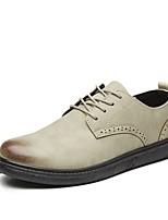 Недорогие -Муж. Комфортная обувь Полиуретан Весна & осень Туфли на шнуровке Бежевый / Темно-серый / Верблюжий