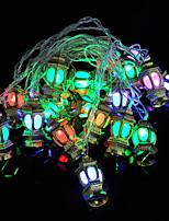 Недорогие -4м Гирлянды 20 светодиоды Разные цвета Декоративная 220-240 V 1 комплект