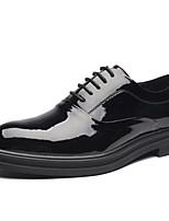 Недорогие -Муж. Официальная обувь Лакированная кожа Весна & осень Туфли на шнуровке Черный