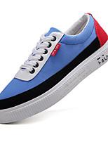 Недорогие -Муж. Комфортная обувь Полотно Осень Кеды Черно-белый / Черный / Красный / Черный / синий