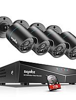 Недорогие -sannce® 8ch 4шт 720p комплекты для наблюдения за системой безопасности камера ночного видения с 1 ТБ HDD