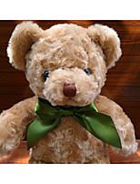Недорогие -Медведи Плюшевый медведь Мягкие игрушки Разговор Мягкие и плюшевые игрушки Животные Очаровательный говорящий Хлопок / полиэфир Все Игрушки Подарок 1 pcs