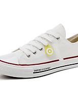 Недорогие -Муж. Комфортная обувь Полотно Весна Кеды Белый / Черный / Бежевый