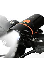 Недорогие -Светодиодная лампа Велосипедные фары Передняя фара для велосипеда LED Горные велосипеды Велоспорт Водонепроницаемый Портативные Защита от пыли Перезаряжаемая батарея 200 lm Перезаряжаемая батарея