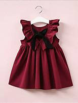 Недорогие -Дети (1-4 лет) Девочки Милая / Симпатичные Стиль Однотонный Без рукавов Платье Розовый