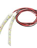 Недорогие -Водонепроницаемые светодиодные полосы света 10 см 6 светодиодные 5050 гибкий 12 В для мотоцикла лодка