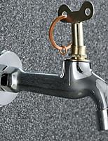 Недорогие -Ванная раковина кран - Широко распространенный Хром Другое Одной ручкой одно отверстиеBath Taps