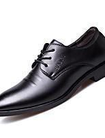 Недорогие -Муж. Официальная обувь Полиуретан Весна лето Мокасины и Свитер Для прогулок Ботинки Черный