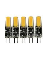 Недорогие -5 шт. 3 W 200-300 lm G4 Двухштырьковые LED лампы T 1 Светодиодные бусины COB Милый Тёплый белый / Холодный белый 12 V