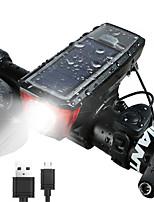 Недорогие -Светодиодная лампа Велосипедные фары Передняя фара для велосипеда Горные велосипеды Велоспорт Водонепроницаемый Портативные Солнечная энергия 350 lm Солнечная энергия Белый / АБС-пластик
