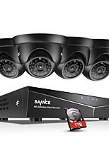 Недорогие -sannce® 8ch 4шт 720p HD видеокамера 1080n 5in1 видеорегистратор DVR защищенная от непогоды система ночного видения и легкий мобильный мониторинг 1 ТБ