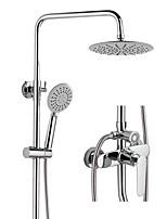 Недорогие -Смеситель для душа - Современный Хром / Многослойное Внешнее крепление Керамический клапан Bath Shower Mixer Taps