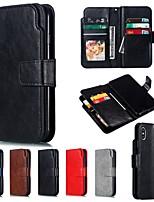 Недорогие -Nillkin Кейс для Назначение Apple iPhone XR / iPhone XS Max Кошелек / Бумажник для карт Чехол Однотонный Твердый Кожа PU для iPhone XS / iPhone XR / iPhone XS Max
