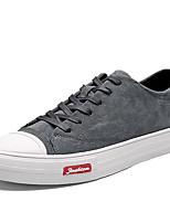 Недорогие -Муж. Комфортная обувь Полиуретан Зима Кеды Черный / Серый / Хаки