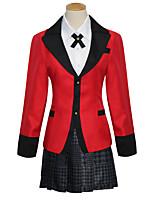 Недорогие -Вдохновлен Kakegurui Косплей Аниме Косплэй костюмы Японский Косплей Костюмы Пальто / Блузка / Юбки Назначение Жен.