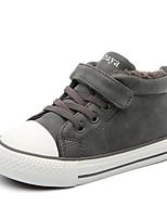 Недорогие -Девочки Обувь Искусственная кожа Зима Удобная обувь Кеды для Дети / Для подростков Черный / Серый / Верблюжий