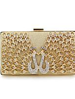 Недорогие -Жен. Мешки Сплав Вечерняя сумочка Кристаллы Геометрический рисунок Золотой