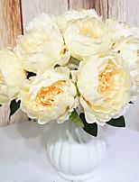 Недорогие -Искусственные Цветы 9 Филиал Классический Классика европейский Пионы Букеты на стол