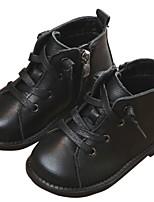 Недорогие -Девочки Обувь Кожа Весна & осень Удобная обувь / Армейские ботинки Ботинки для Дети / Для подростков Черный / Коричневый / Красный