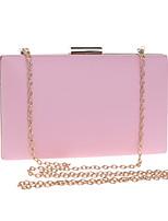 Недорогие -Жен. Мешки PU / Сплав Вечерняя сумочка Сплошной цвет Черный / Красный / Розовый