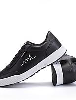 Недорогие -Муж. Комфортная обувь Полиуретан Весна & осень Кеды Белый / Черный / Синий