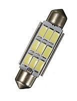 Недорогие -42 мм 1.72 дюймовый гирлянда 5630 чип 9-светодиодный SMD 6000 К карта / купол света