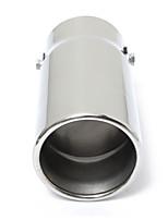 Недорогие -круглый универсальный подходит для автомобиля из нержавеющей стали выхлопная труба наконечник глушитель хром