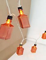 Недорогие -1m Гирлянды 10 светодиоды Тёплый белый Декоративная Аккумуляторы AA 1 комплект