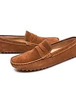 Недорогие -Муж. Комфортная обувь Замша Весна & осень Мокасины и Свитер Серый / Коричневый / Синий