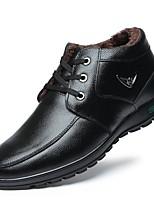 Недорогие -Муж. Комфортная обувь Кожа Зима Туфли на шнуровке Черный / Коричневый