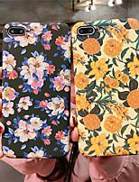Недорогие -Кейс для Назначение Apple iPhone XR / iPhone XS Max Сияние в темноте Кейс на заднюю панель Цветы Твердый ПК для iPhone XS / iPhone XR / iPhone XS Max