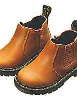 Недорогие -Девочки Обувь Полиуретан Зима Армейские ботинки Ботинки для Дети Черный / Желтый