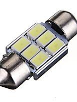 Недорогие -1 шт. Фестон Автомобиль Лампы 2 W SMD 5630 120 lm 6 Светодиодная лампа Подсветка для номерного знака / Внутреннее освещение Назначение Все года