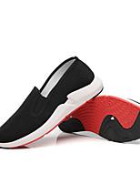 Недорогие -Муж. Комфортная обувь Хлопок Осень Мокасины и Свитер Черный / Красный