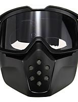Недорогие -мотоцикл лыжный шлем серая линза съемные очки маска для лица защитная маска
