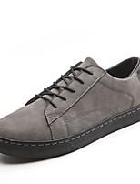Недорогие -Муж. Комфортная обувь Свиная кожа Осень Кеды Черный / Темно-серый / Светло-серый