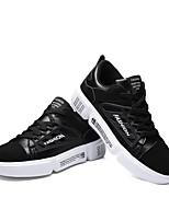Недорогие -Муж. Комфортная обувь Полотно Весна & осень Кеды Черный / Оранжевый / Серый
