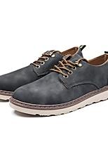 Недорогие -Муж. Комфортная обувь Полиуретан Весна & осень Туфли на шнуровке Серый / Кофейный / Коричневый