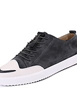 Недорогие -Муж. Комфортная обувь Свиная кожа Лето Кеды Черный / Серый / Коричневый