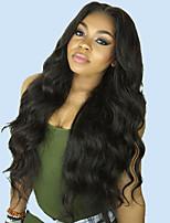 Недорогие -Необработанные натуральные волосы 360 Лобовой Лента спереди Парик Глубокое разделение стиль Бразильские волосы Естественные кудри Парик 130% 150% 180% Плотность волос / Жаропрочная