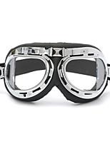 Недорогие -универсальный мотоцикл шлем скутер очки черный пилот стиль