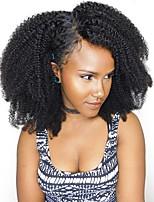 Недорогие -Dolago Бразильские волосы 360 Лобовой Кудрявый Бесплатный Часть Французское кружево Не подвергавшиеся окрашиванию / Натуральные волосы Жен. с детскими волосами / Для темнокожих женщин / 100