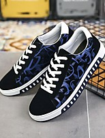 Недорогие -Муж. Комфортная обувь Полотно Весна Кеды Белый / Черный / Синий