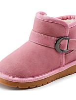 Недорогие -Девочки Обувь Замша Зима Удобная обувь / Зимние сапоги Ботинки для Дети / Для подростков Черный / Коричневый / Розовый