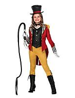 Недорогие -Величайший Шоумен Инвентарь Девочки Косплей из фильмов Красный Косыночная повязка Пальто Жилетка Хэллоуин Карнавал Маскарад Полиэстер