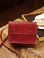 Недорогие -Жен. Мешки PU Мобильный телефон сумка Сплошной цвет Красный / Розовый / Темно-коричневый
