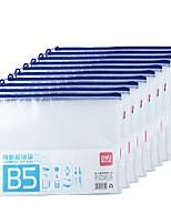 Недорогие -10 pcs deli 5655 Папки файлов В5 PVC Прозрачный с застежкой-молнией Custom Label