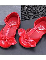 Недорогие -Девочки Обувь Кожа Лето Удобная обувь На плокой подошве для Дети Черный / Серый / Красный